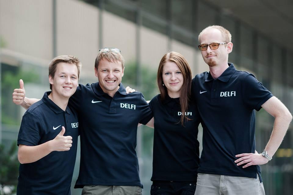 Delfi komanda: Rytis Kazlauskas, Kirilas Čachovskis, Birutė Davidonytė ir Mindaugas Augustis.