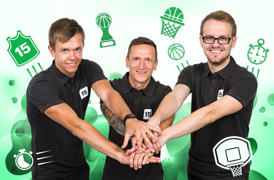 15min komanda: Donatas Urbonas, Erikas Ovčarenko, Paulius Cubera.