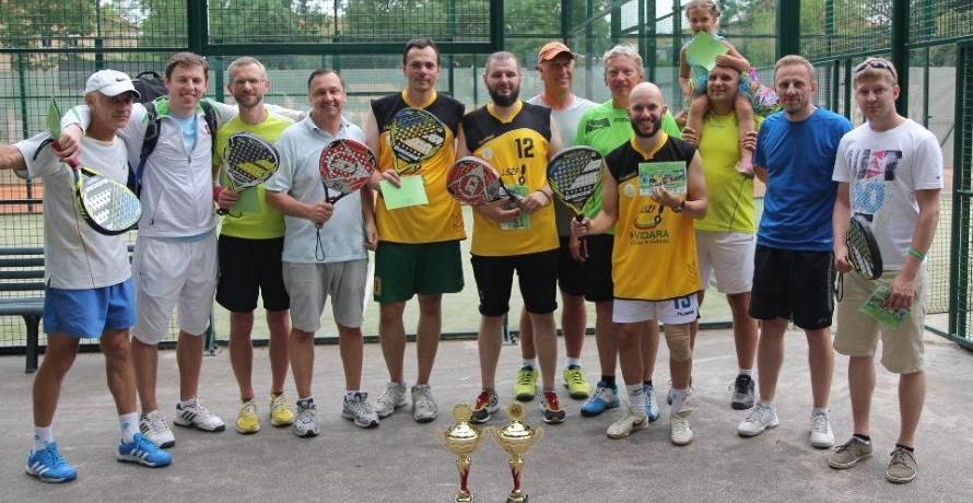 Padelio teniso subtilybes aikštėje siekė perkąsti ir sporto žurnalistai