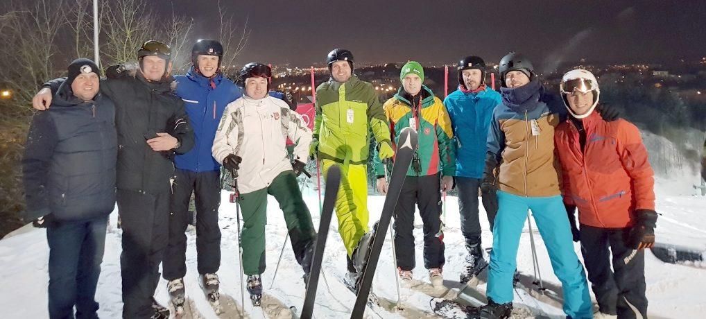 Žiemos olimpines žaidynes sporto žurnalistai pasitiko kalnų slidinėjimo trasoje