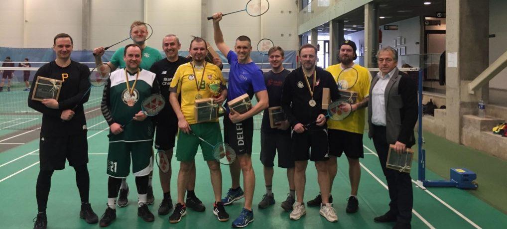 Sporto žurnalistų badmintono turnyre – tas pats nugalėtojas trečią kartą iš eilės