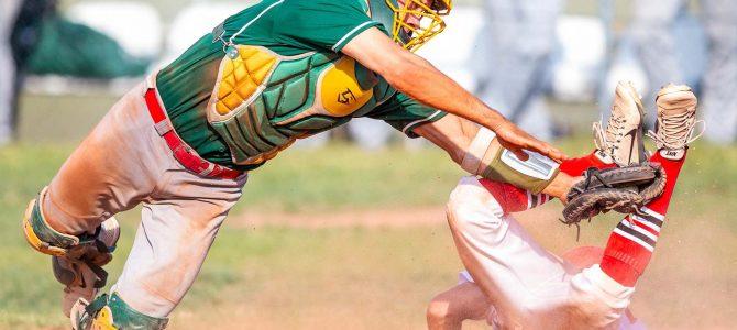 Geriausioje birželio sporto nuotraukoje – efektingas beisbolo rungtynių momentas